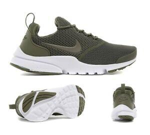 Junior Nike Presto Fly Olive/White