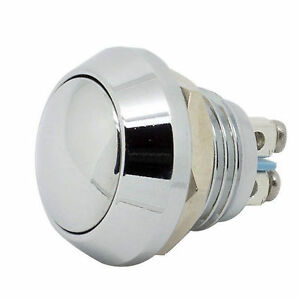 12mm 1 2 anti vandal momentary metal push button switch dome top for box mods ebay. Black Bedroom Furniture Sets. Home Design Ideas
