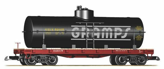 PIKO G SCALE D&RGW GRAMPS TANK CAR   BN   38711