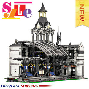 MOC-37719 Modular Train Station Building Blocks Good Building Blocks Toys