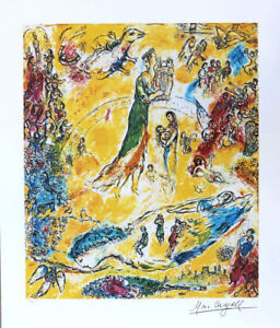 Image Is Loading Marc Chagall Sorcerer Of Music Litho Print Signed
