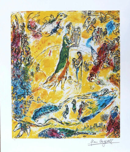 Marc Chagall SORCERER of MUSIC Litho Print Signed /& Numbered COA