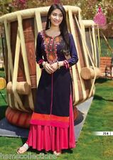 Glamorous Heavy Rayon Cotton Embroidered Kurti, Kurta,Tunic in XXL Size