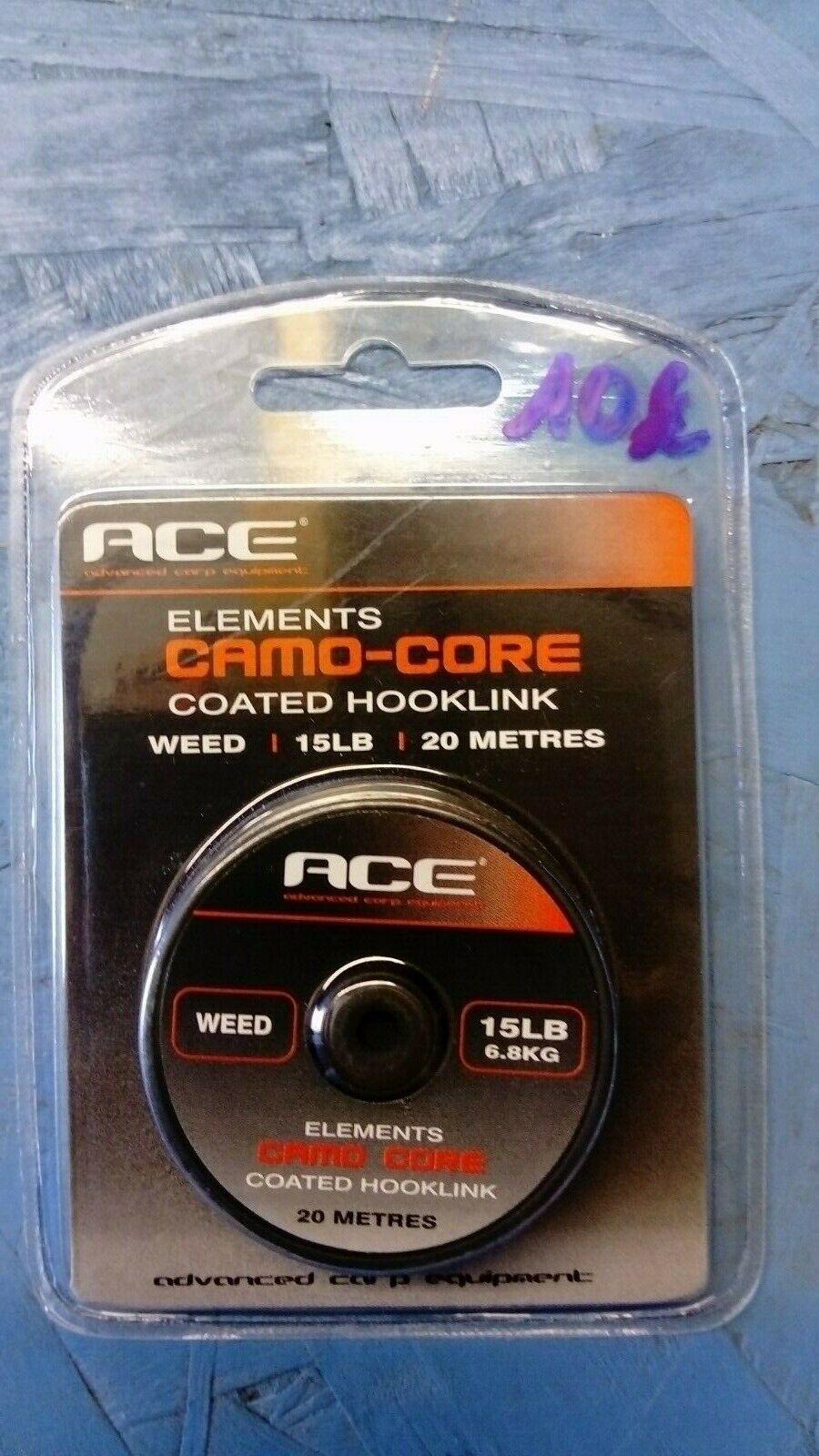 Tresse CAMO-CORE COATED HOOKLINK WEED ACE 6.8 kg 15 LB 20m neuf