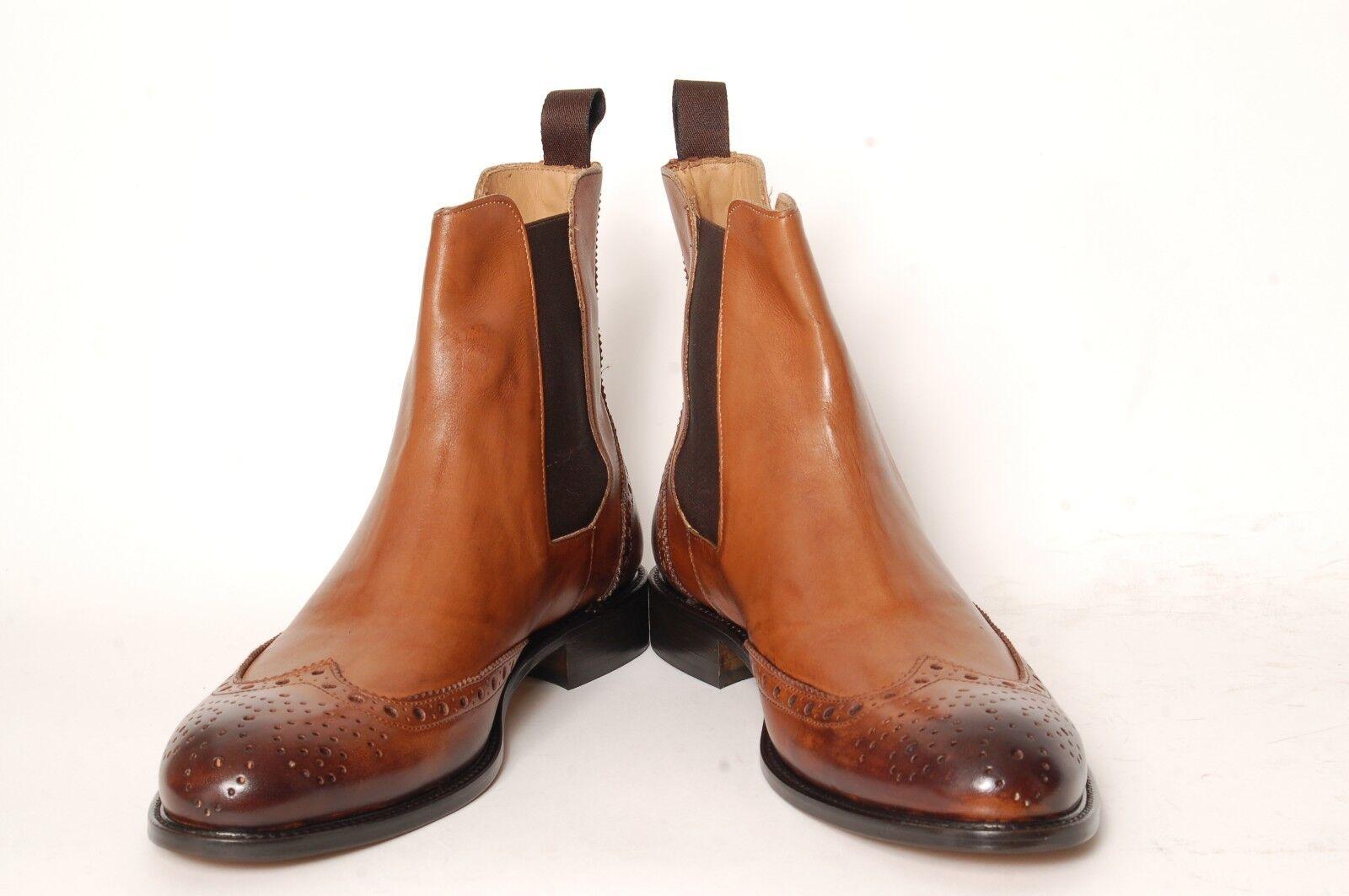 Acc   fabricado a mano   Italiana, mitad alta botín   chelsea-botas   805