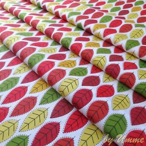 Autumn-Leaves-100-Cotton-Fabric-Ideal-for-Clothing-Craft-Quilting