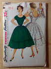 Vintage 1940s 1950s SIMPLICITY Women Sewing Pattern 4637 One-Piece Dress B33