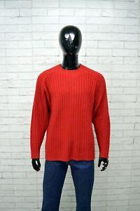 Maglione-Uomo-RIFLE-Taglia-XXL-Pullover-Cardigan-Beige-Sweater-Lana-Rosso-Man