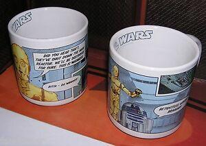 Star-Wars-Set-de-2-tasses-officielles-D2R2-amp-C3PO-star-wars-quotable-mug-lot