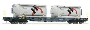 Roco-H0-76943-Containertragwagen-034-Holcim-034-Bauart-Sgnss-der-SBB-Cargo-NEU-OVP