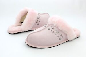 46663fa4ebc3 UGG Scuffette II Studded Bling Seashell Pink Color Sheepskin Slipper ...