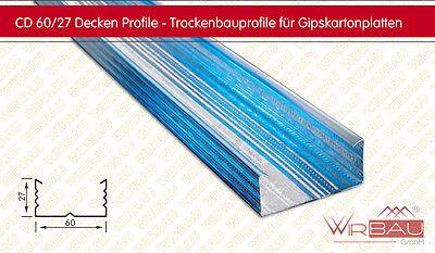 CD Profil 60/27, Länge 4,0m, Deckenprofil für den Trockenbau, Preis gilt für 4m