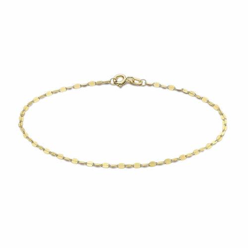 "TJC 9ct Gold Valentino Chain Bracelet for Women Girls 7.25/"" Valentine Day Gift"