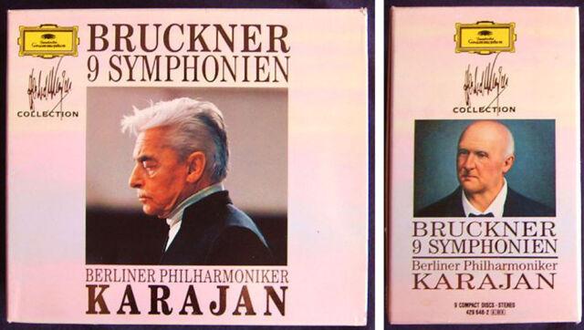Herbert von KARAJAN: BRUCKNER Symphony No.1 2 3 4 5 6 7 8 9 BPO DG 9CD Sinfonien