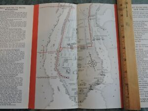 Nyc Subway Map Ebay.Details About Rare 1939 Hotel Woodstock Nyc Brochure New York City Subway Map