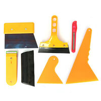7pcs Window Light Scraper Wrapping Tint Squeegee Cleaning Tools Vinyl Film Set