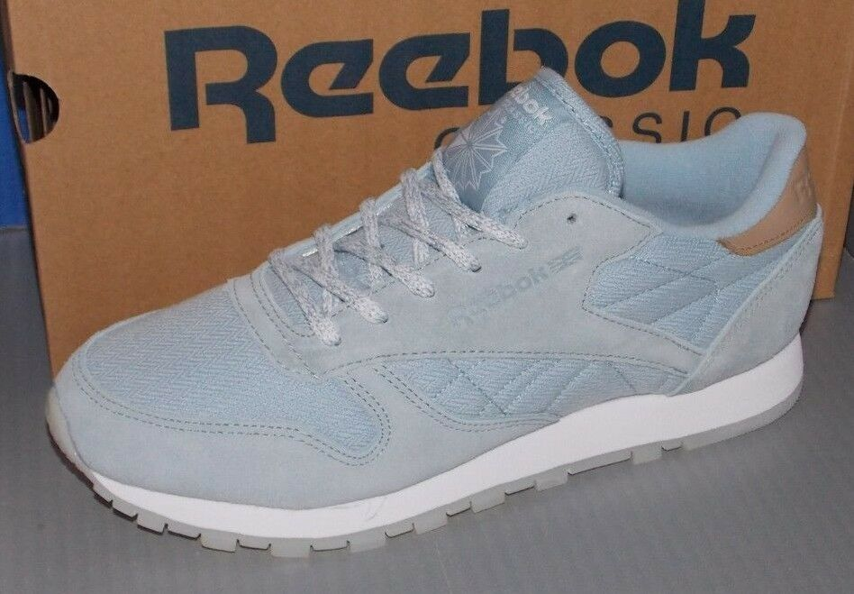 WOMENS REEBOK CL LEATHER SEA-WORN in colors GABLE GREY   WHITE SIZE 8.5