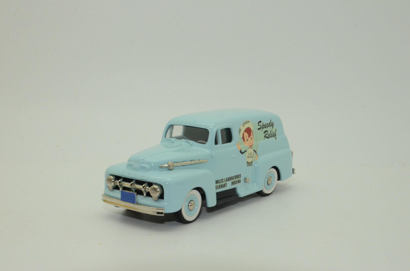 RARE   Ford F1 Panel Alka-Seltzer 1952 Brooklin BRK. 42x 1 43