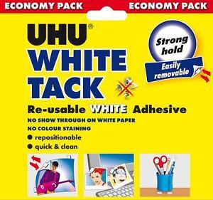 UHU-White-Tack-Economy-100g-Re-Usable-White-Adhesive-Non-Staining