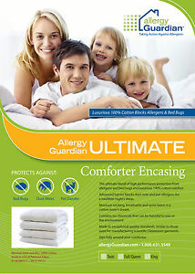 Allergy-Guardian-Double-Quilt-Cover-Anti-Dust-Mite-Bed-Bug-100-Cotton