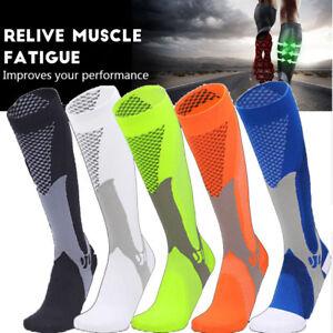 Copper-Compression-Socks-Men-Women-Calf-Shin-Leg-Running-Fitness-Sleeve-Brace-AM