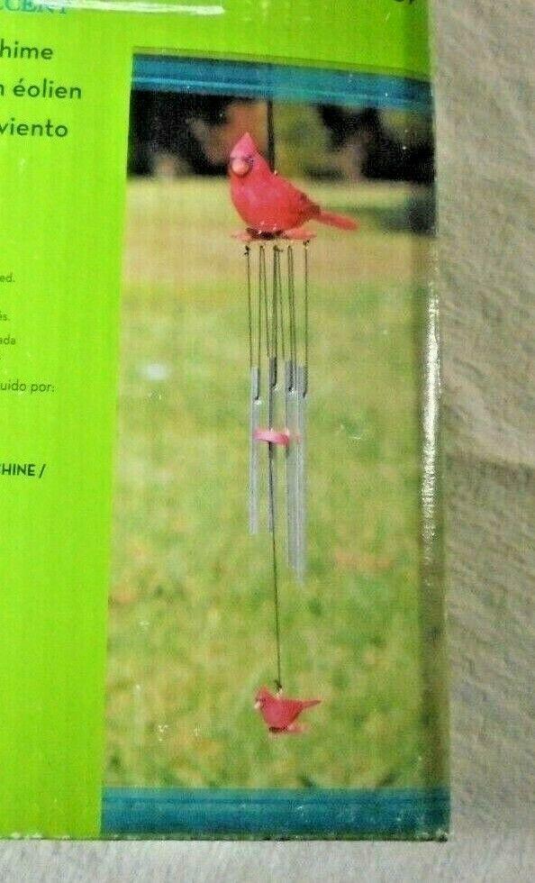 Garden Treasures Accent 005907 Cardinal Wind Chime Outdoor Garden Windchime New