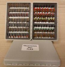 UFS Fly Box of 112 Flies - Traditional Wet Flies
