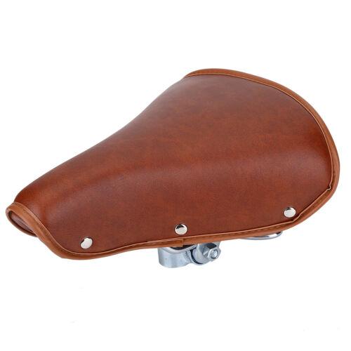 Vintage Sella Sedile Morbido Cuscino in PU Pelle Per Bici Bicicletta Universale