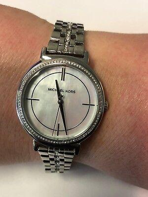 Michael Kors Cinthia Mother of Pearl Dial Ladies Watch MK 3641 | eBay