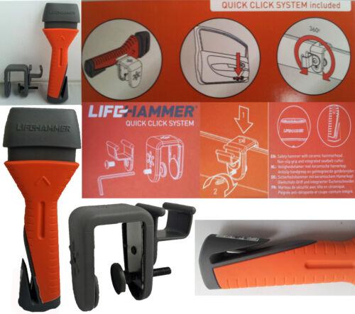NOTHAMMER Life Hammer Evolution mit Gurtmesser /& Quick Click Halterung  10660