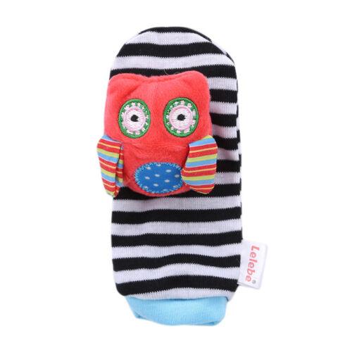 Baby Children Animal Socks Wrist Strap Rattle Cartoon Foot Sock Wrist Strap ONE