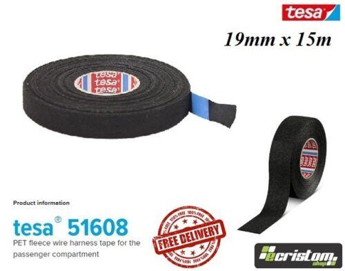TESA Cinta 51608 Rollo De Tela De Paño Adhesivo Cable Arnés de cableado 19mm X 25m