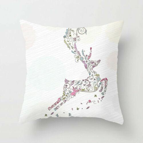 Christmas Merry 18inch Pillow Case Polyester Sofa Throw Cushion Cover Home Decor