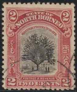 NORTH-BORNEO-1925-2c-SAGO-PALM-USED
