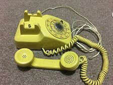 Rotary Phone Western Electric Desk Model C/D 500 Yellow 1966