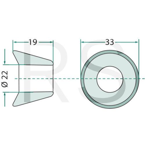 Buchse Einschweißbuchse Frontladerzinken Baas usw Granit Parts 43018100-5F