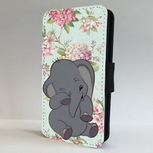 Dumbo-Elephant-Disney-Floral-FLIP-PHONE-CASE-COVER-for-IPHONE-SAMSUNG