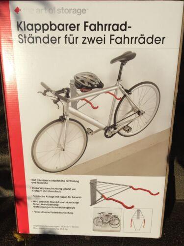 The Art of Storage Bike Rack 2 Bikes Holder Wall ageing Foldable