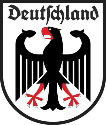 Auto Aufkleber Deutschland deutscher Adler Wappen Emblem Schriftzug car Sticker