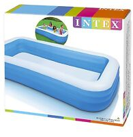 Large Family Inflatable Swimming Pool Kids Adult Outdoor 264 Gal Capacity