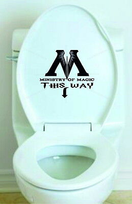 VINYL STICKER TOILET SEAT - Ministry Of Magic This Way - Harry Potter