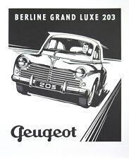 Vintage Poster - PEUGEOT 203 BERLINE Automobile Car Auto Art Print