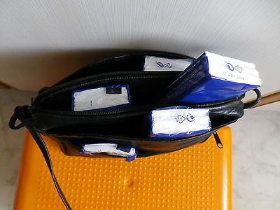 Damen-Schultertasche Handtasche schwarz L. Credi Leder B 22 cm viel Platz/viele