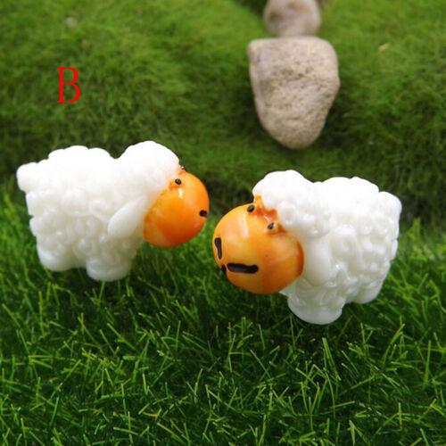 5 Stücke Mini Schafe Hause Micro Fairy Garten Figuren Miniaturen Wohnkultur YE
