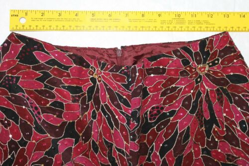 decorata Size da Ba22 donna in con 6 fascia Pantaloni Muse seta aY8xpYw