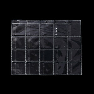 10-Pages-20-Pockets-Plastic-Coin-Holders-Storage-Collections-Money-Album-CasRCUS