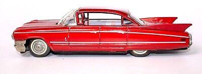 Autos & Lkw Vintage Japanisch Blech Reibung 1959 Cadillac 4-türer Hardtop-coupé Mit Wischer Hitze Und Durst Lindern. Spielzeug