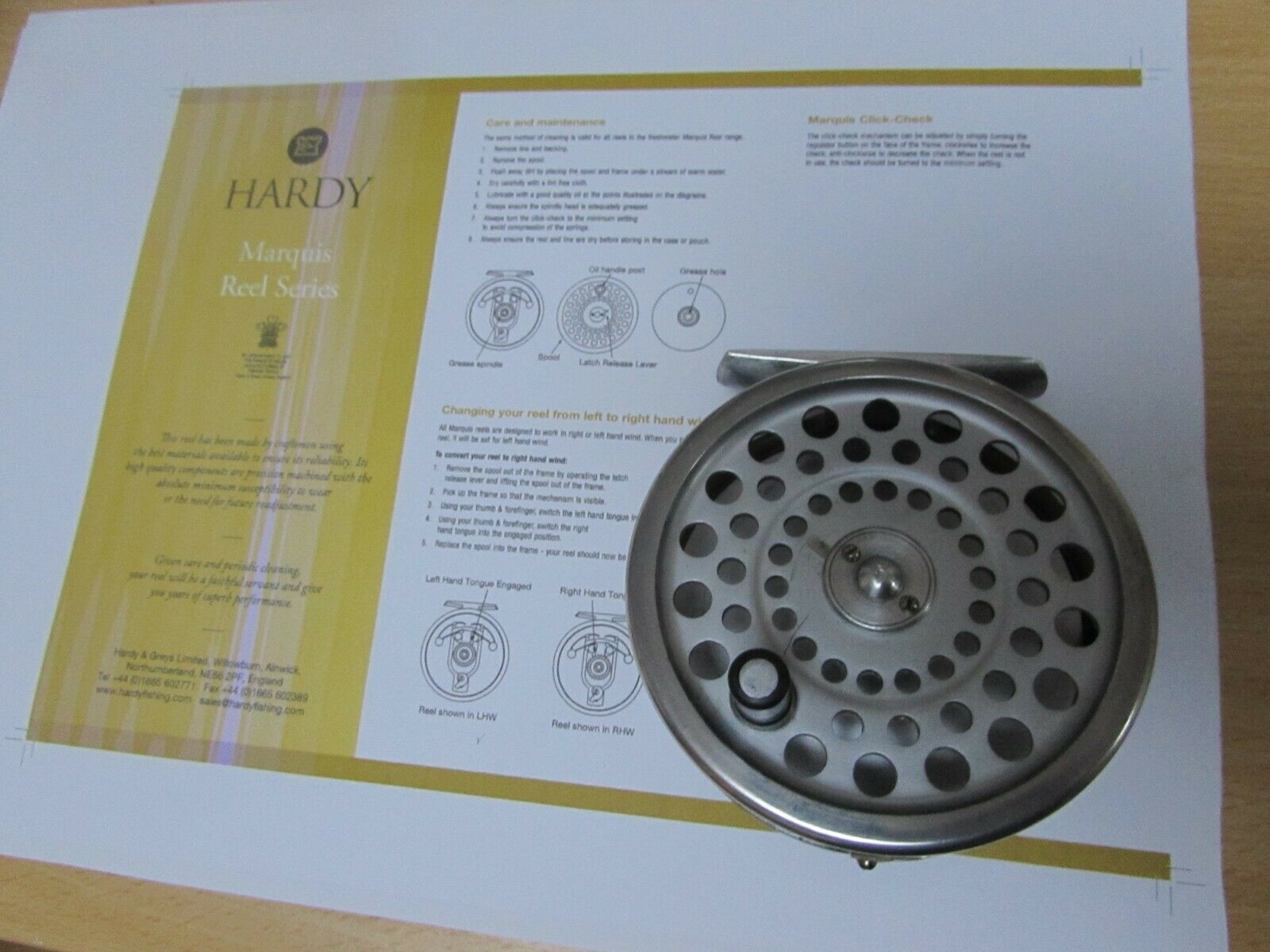 V good vintage Hardy alnwick Marquis no. 6 trout fly fishing reel 3.25