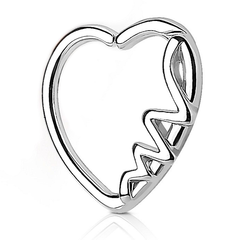 """HEARTBEAT WAVES DAITH CARTILAGE PIERCING EARRING 16G 3//8/"""" HOOP LEFT EAR"""