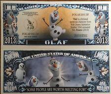 Disney Olaf Million Dollar Bill ( Frozen )